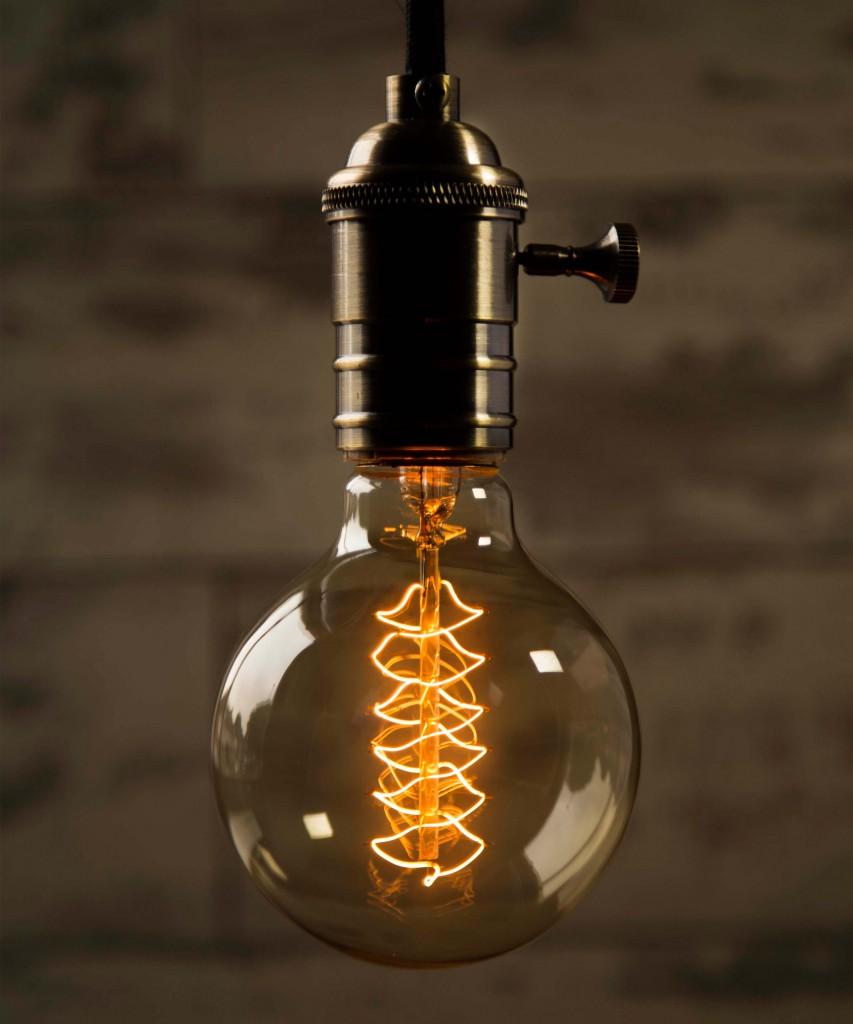 Edison Medium Globe Spiral Vintage Filament Light Bulb E27 40w