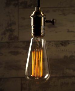 Teardrop Squirrel Cage Large Vintage Filament Light Bulb