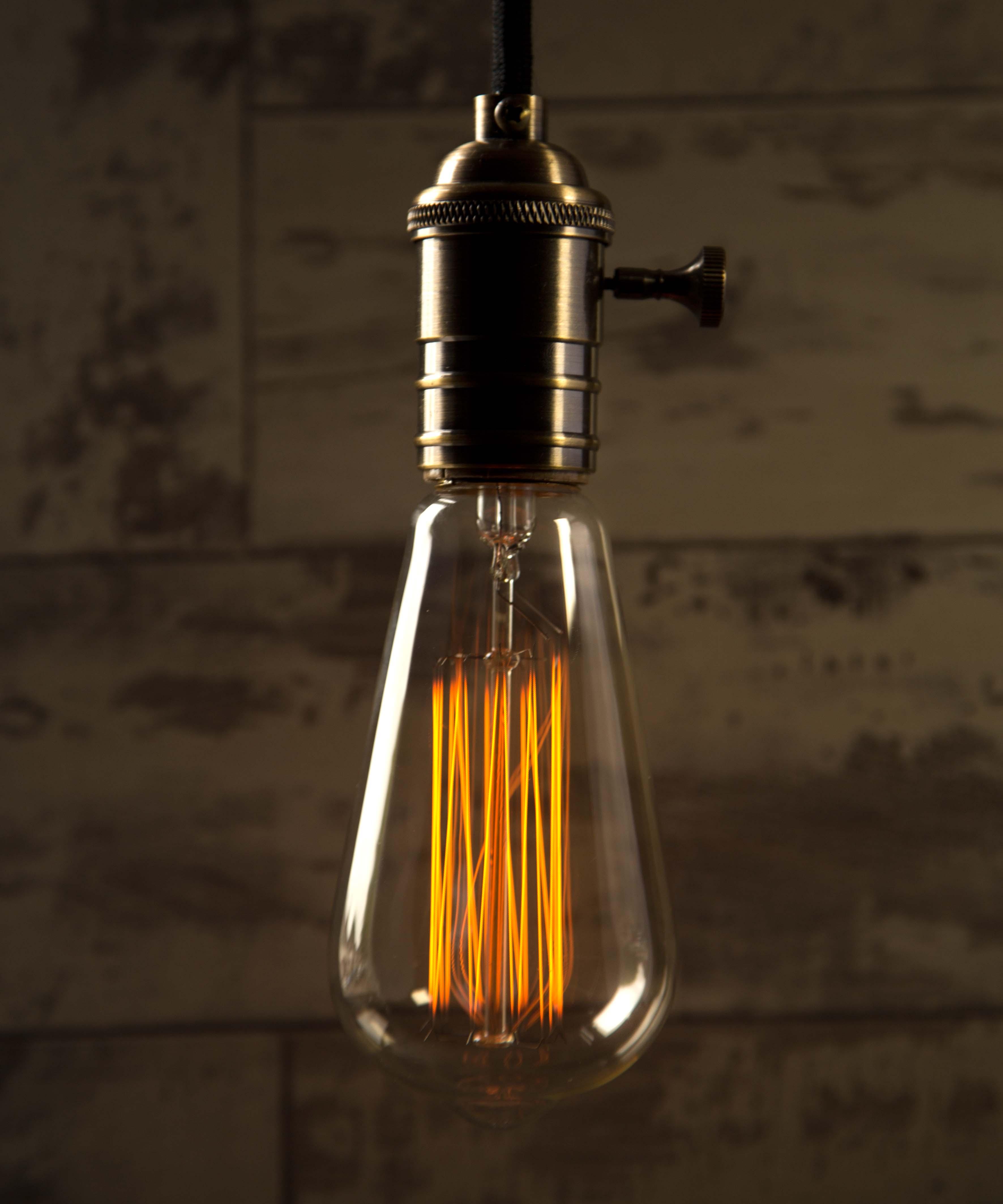 Teardrop st64 william and watson vintage edison bulb industrial light - Large Teardrop Cropped St64 Teardrop Large William And Watson Industrial Vintage Retro Edison Light Bulb