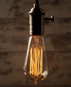 Teardrop Squirrel Cage Vintage Filament Light Bulb