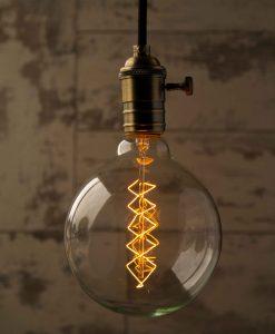 Globe Spiral Extra Large Vintage Filament Light Bulb