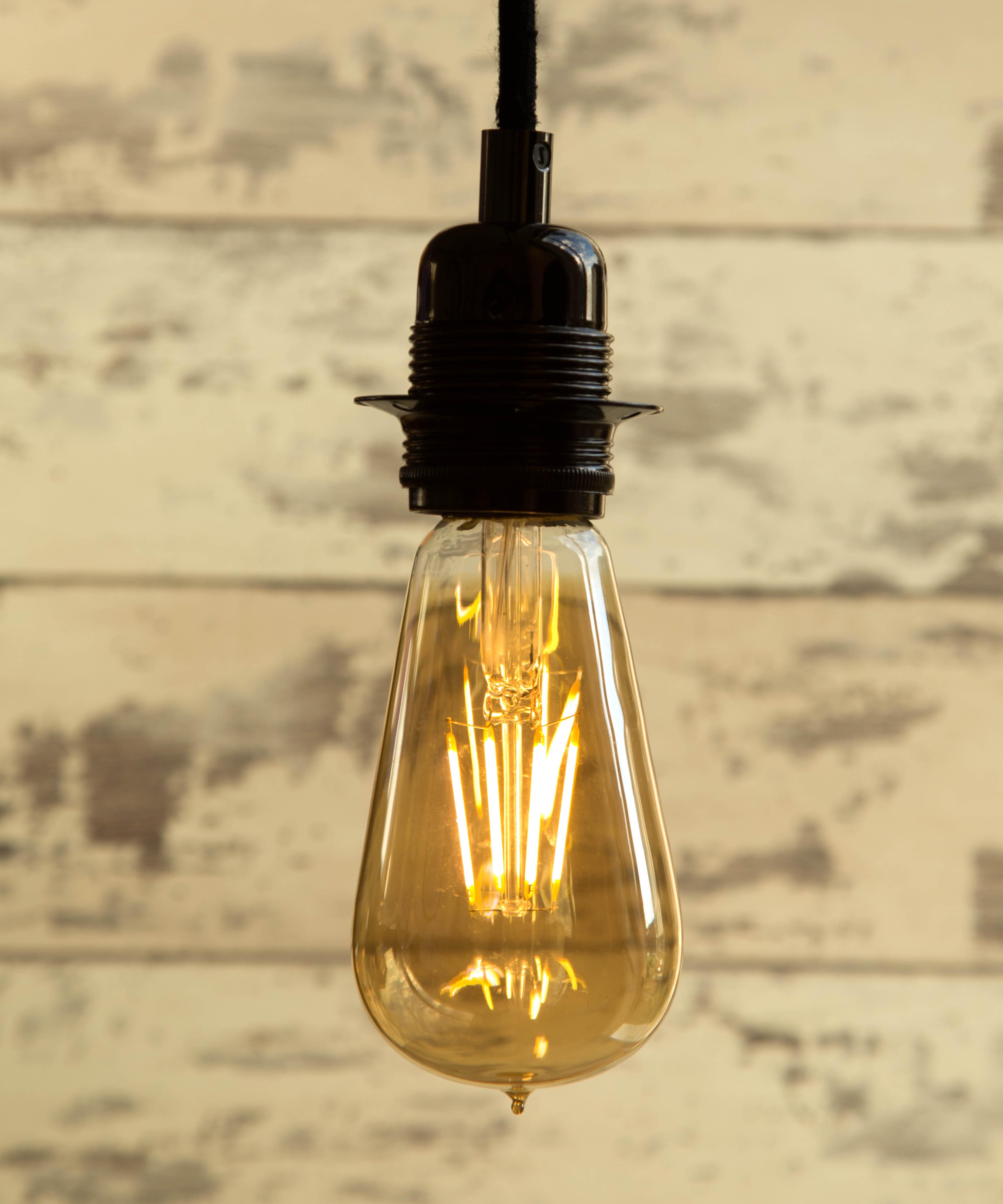 Teardrop st64 william and watson vintage edison bulb industrial light - Teardrop Large 100percent Dimmable St64 4w Led William And Watson Industrial Vintage Grey Sg