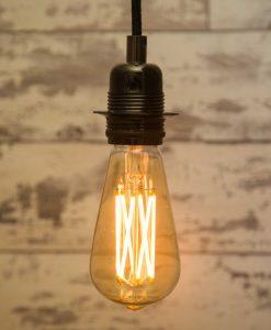 Large Teardrop Filaments Crossing LED Light Bulb
