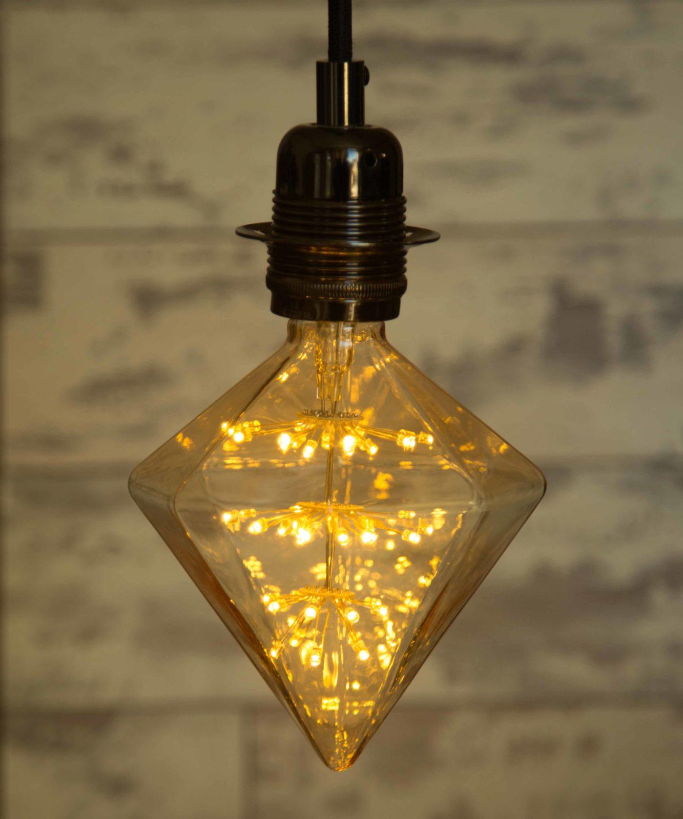 decorative extra large diamond star led light bulb 3w long life. Black Bedroom Furniture Sets. Home Design Ideas