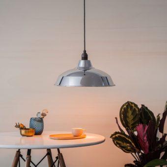 Industrial lampshade Silver mirror