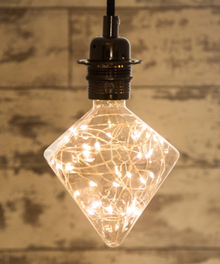 Diamond Designer Decorative Led Light Bulb 1 7w E27 Long Life