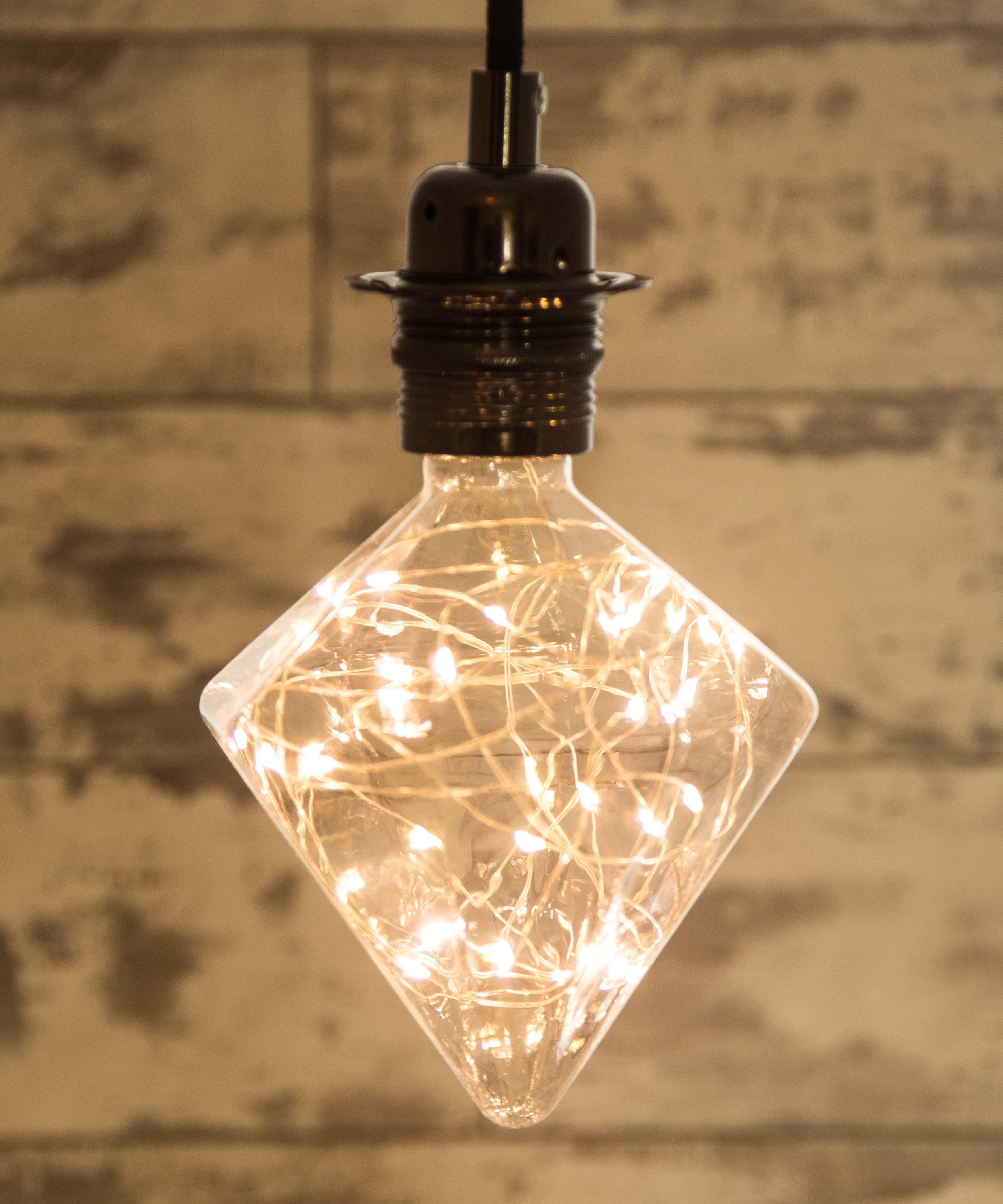 Led Decorative Lighting: Diamond Designer Decorative LED Light Bulb 1.7W E27 Long Life