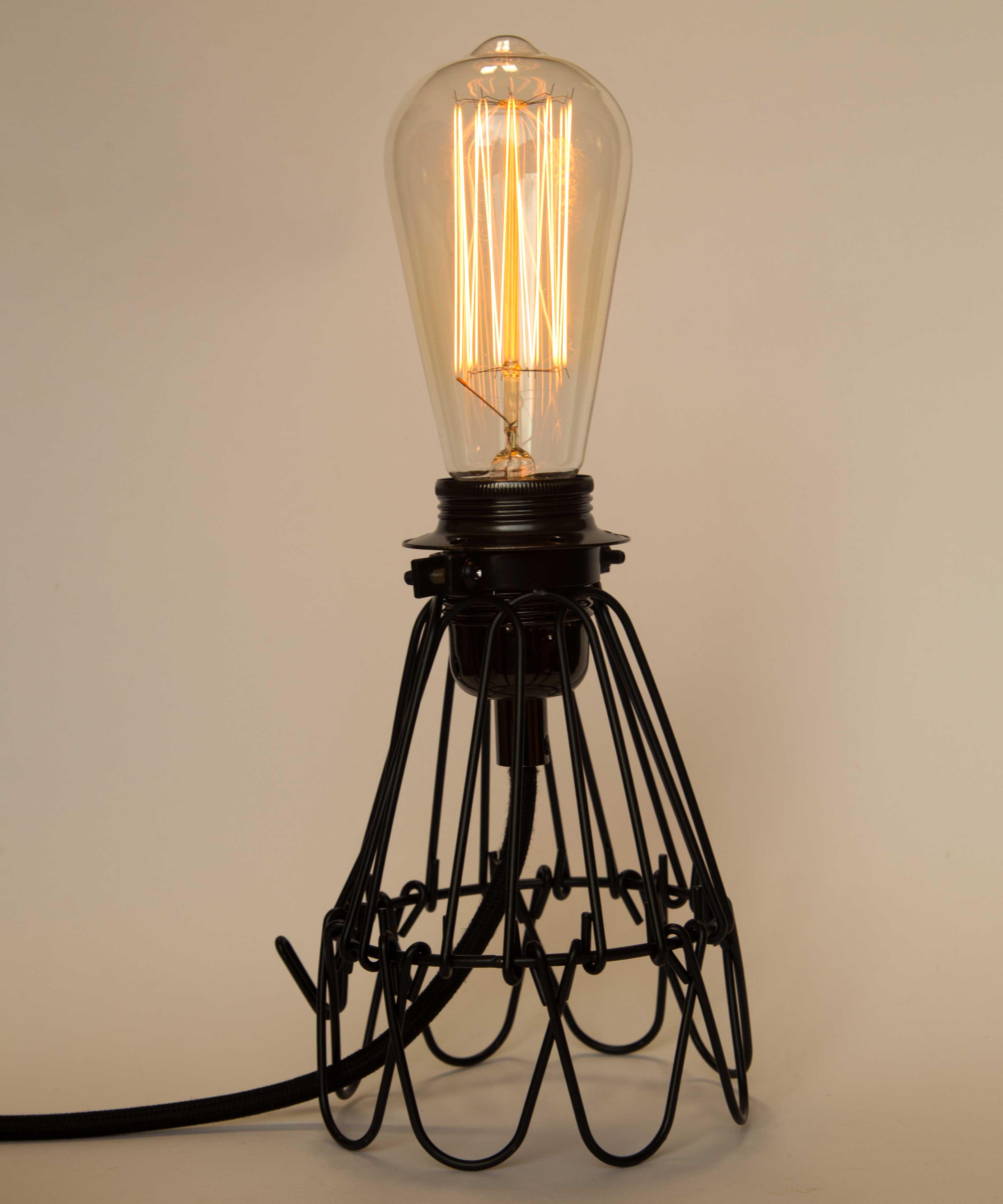 Cage Lamp Italian Retro Design Dimmable Pendant Bedside