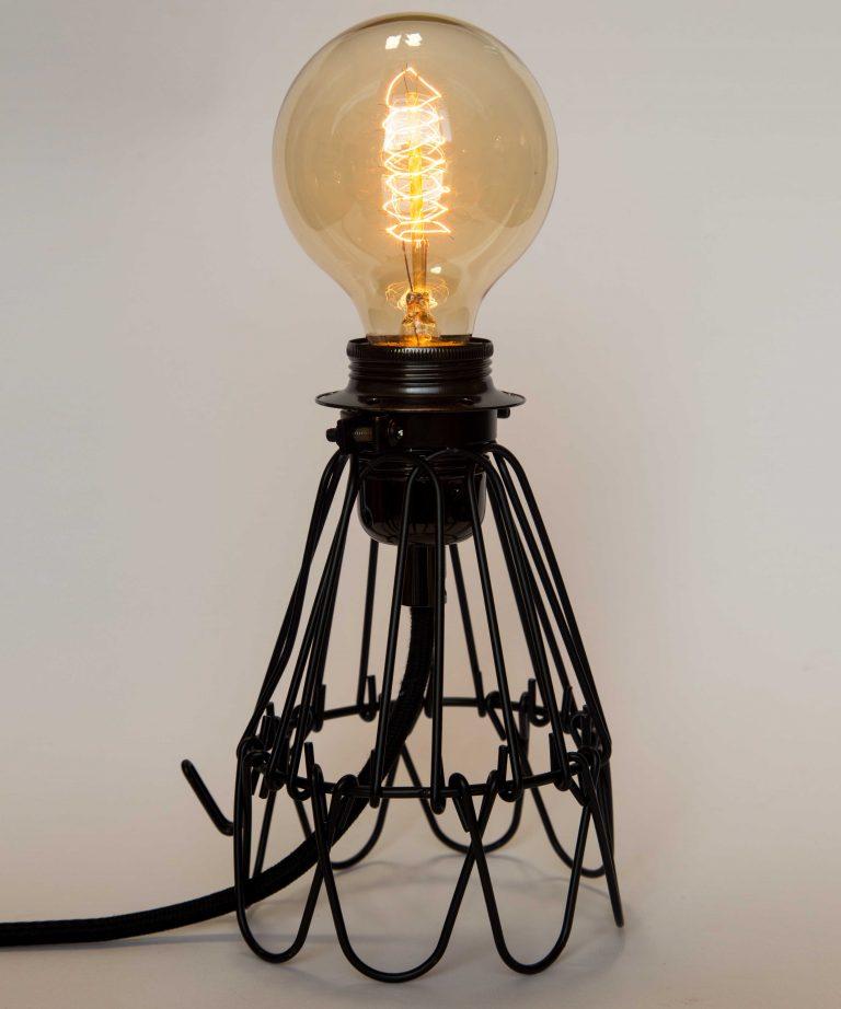 3 bulb edison table lamp